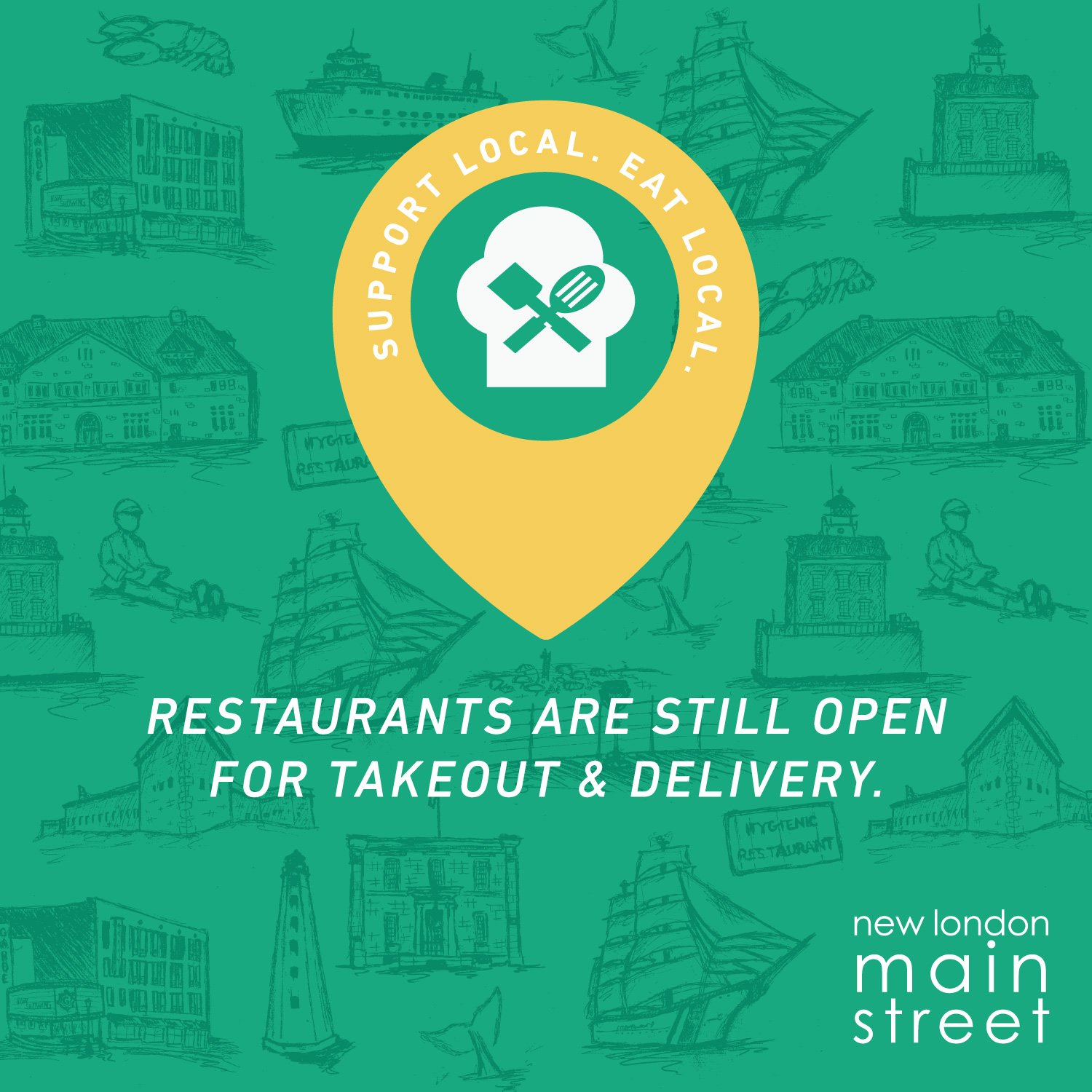 New London Restaurants Open for Delivery & Takeout!